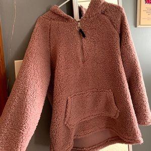 Pinkish fuzzy jacket